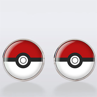 Pokeball Cuff Links
