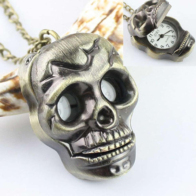 Skull Necklace Watch