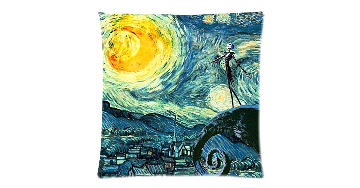 Starry Nightmare Before Christmas Pillow Cover Drunkmall