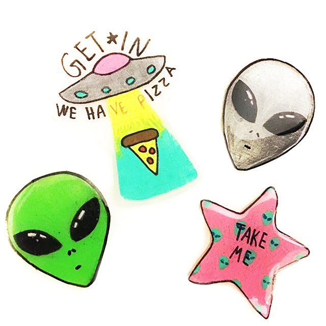 Cute Extraterrestial Pins