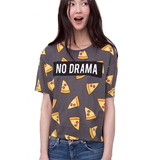 No Drama Pizza Shirt