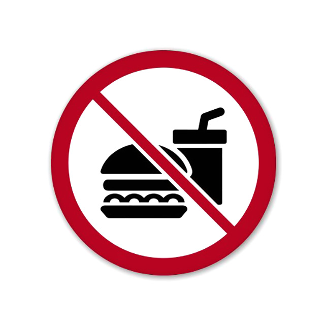 No Food or Drinks Sticker