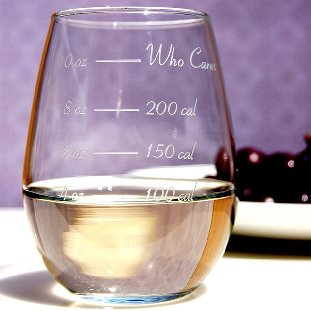 Calorie Counter Wine Glass