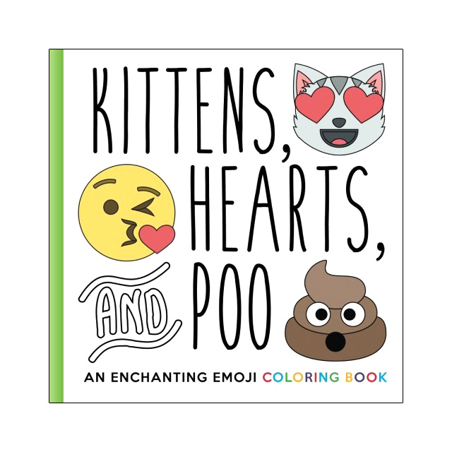Kittens Hearts and Poo - Emoji Coloring Book