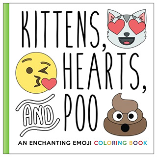 Kittens Hearts and Poo – Emoji Coloring Book