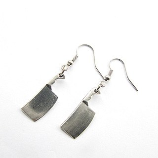 Meat Cleaver Earrings