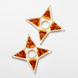Real Pizza Throwing Stars