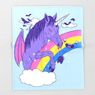 Vampire Unicorn Blanket