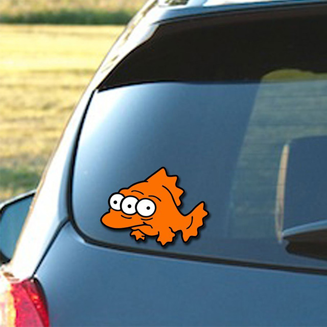 Blinky the Fish Car Decal