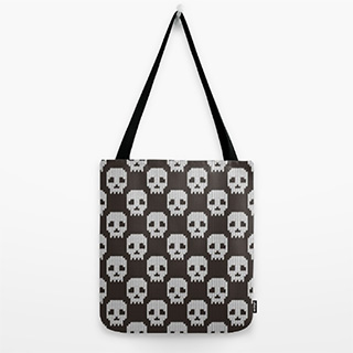 Knitted Skull Pattern Bag