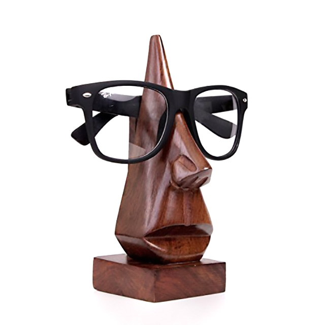 Wooden Statue Eyeglasses Holder