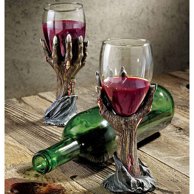 Zombie Hand Wine Goblets