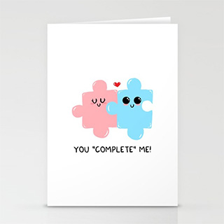 Cute Puzzle Pieces Gift Card