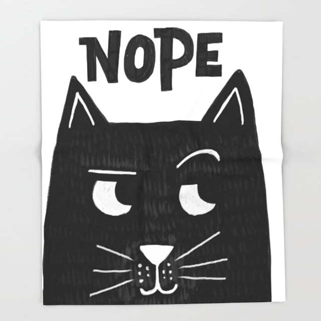 Nope Cat Blanket