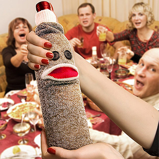 Sock Monkey Wine Holder