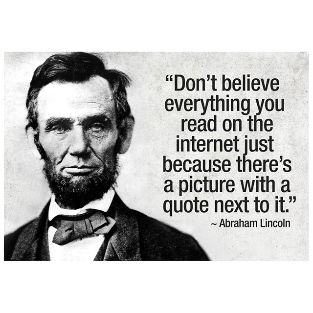 Image result for abraham lincoln on the internet