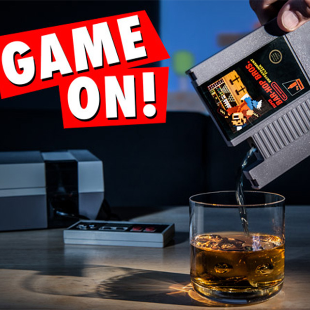 Video Game Cartridge Flask