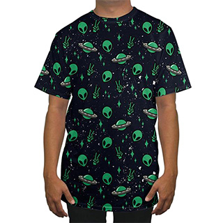 Little Green Men UFO Shirt