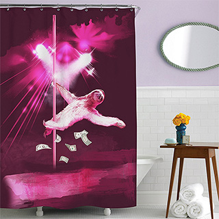 Sloth Stripper Shower Curtain