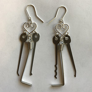 Lockpick Earrings