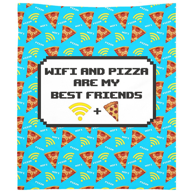 Wifi and Pizza Tapestry