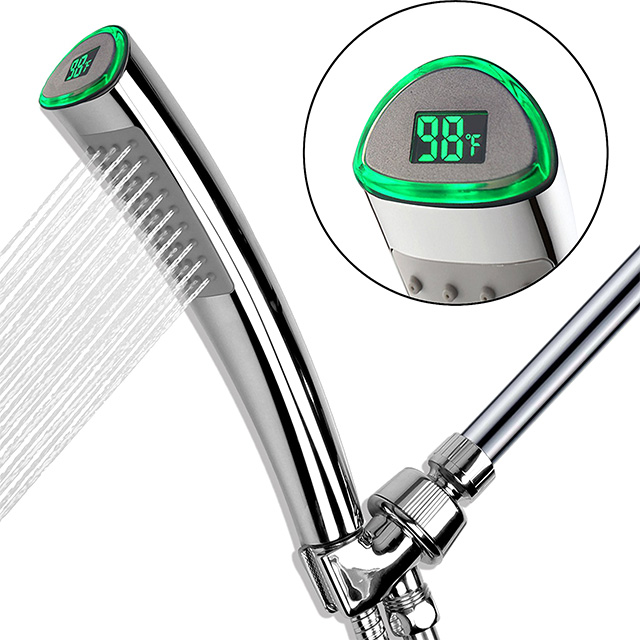 Digital Display Shower Wand