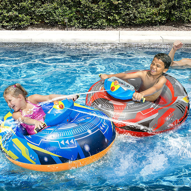 Motorized Float with Mounted Water Gun