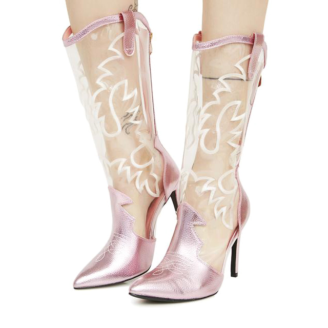 Clear Cowgirl Boots