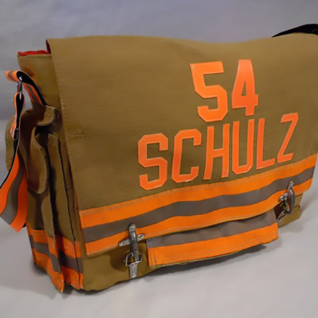 Recycled Firefighter Gear Laptop Bags