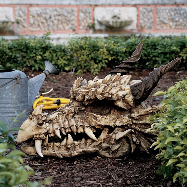 Dragon Skull Sculpture