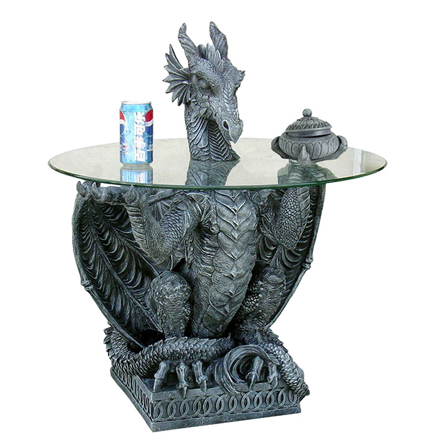 Glass Top Dragon Table