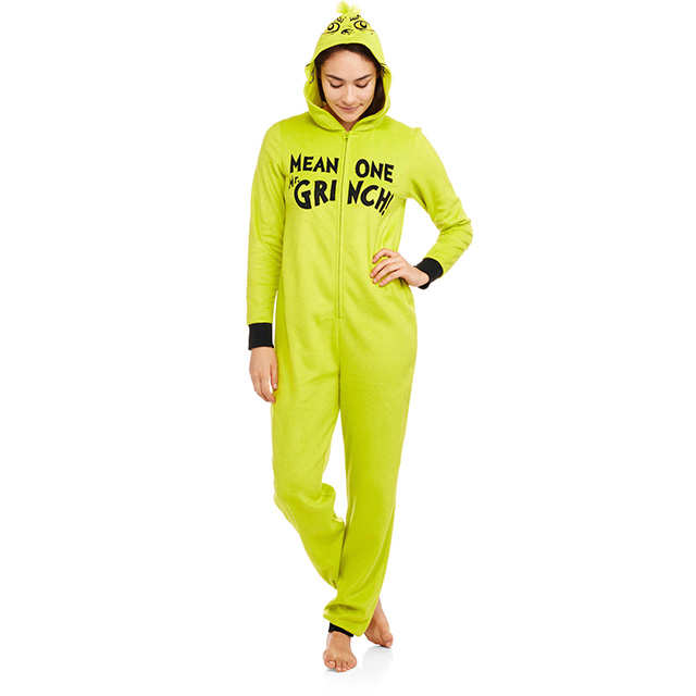 Hooded Grinch Onesie