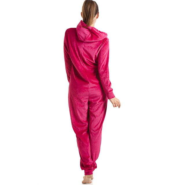 Hooded Velvet Onesie