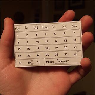 2018: Cool Calendars!