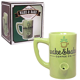 Wake 'n' Bake Mug with Built-In Pipe