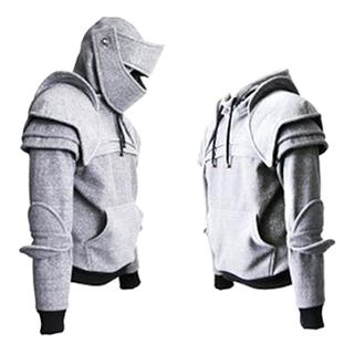 """Knight's Armor"" Visored Helmet Hoodie"