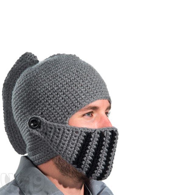 """Knight's Helmet"" Knitted Ski Mask"
