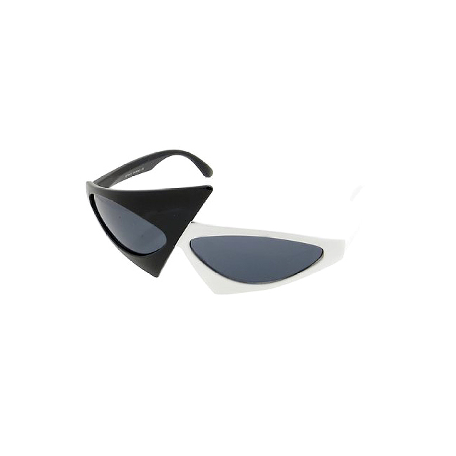 Asymmetrical'80s Sunglasses