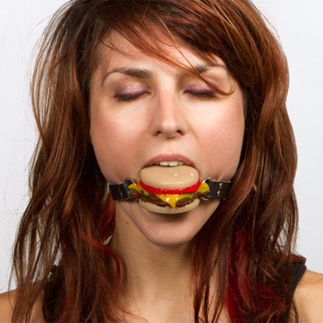 Cheeseburger Ball Gag: The Silencing Slider