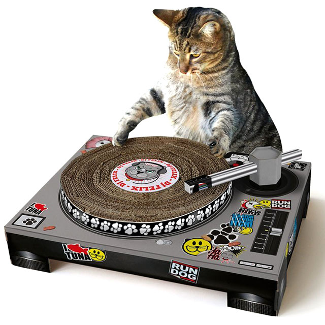 DJ Kitty Cat Turntable Scratcher
