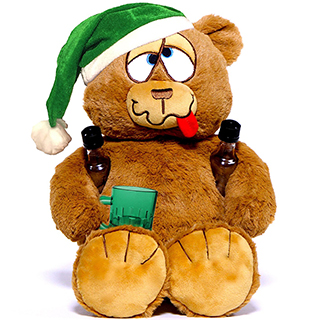 Drunk Christmas Teddy Bear