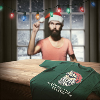 Hipster Santa Claus T-Shirt