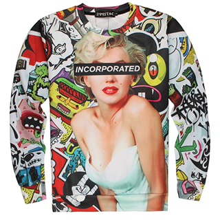 Ironically Tacky Marilyn Monroe Sweater