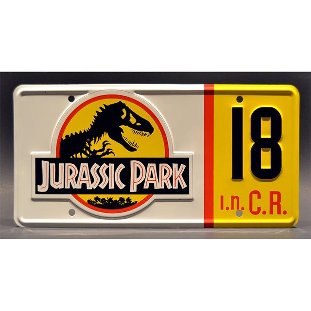 Jurassic Park License Plate
