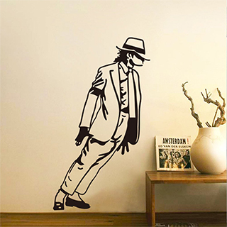 Leaning Michael Jackson Wall Decal