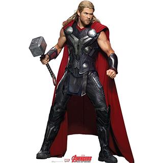 Life-Sized Cardboard Thor