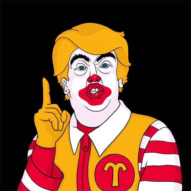 McDonald Trump canvas print