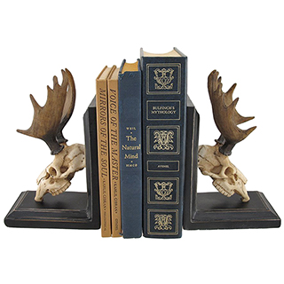 Moose Skull Bookends