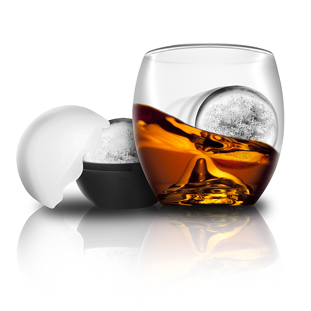 On the Rocks Tumblers with Ice Ball Makers