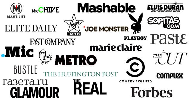 drunkMall Press Logos